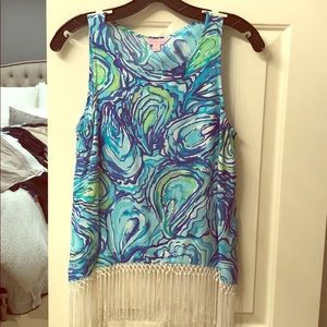 Lily Pulitzer Top with Fringe